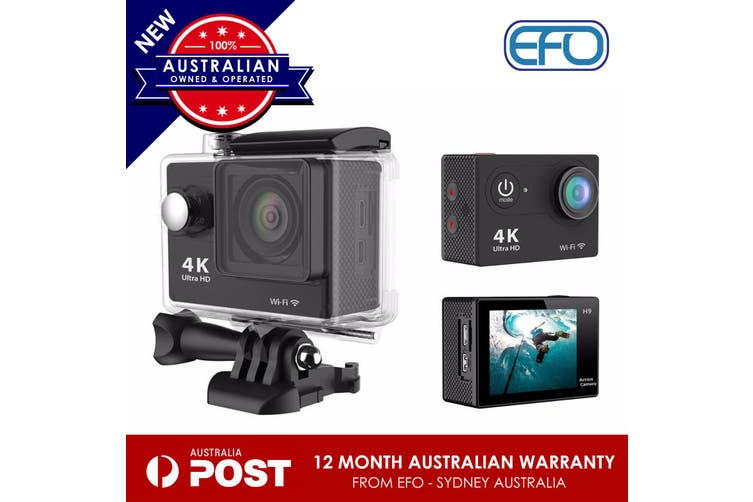 "4K Ultra 2"" Full Hd H9R Action Camera 30M Waterproof  2.4G Wifi Dv Remote Black"