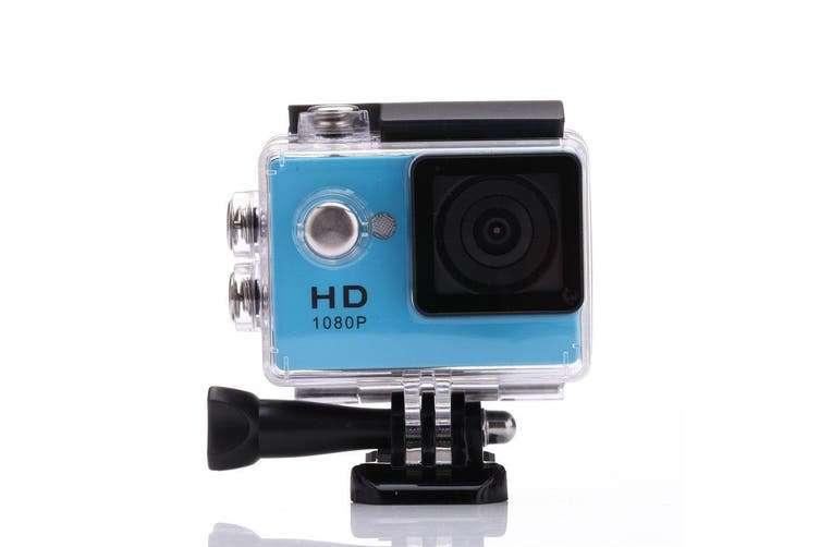 1080P Full Hd Sports Camera 30M Waterproof Loop Rec A9 Action Camera - Blue
