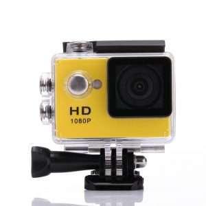 Sports Camera 30M Waterproof Loop Rec A9 Action Camera W/ Case - Yellow - Kid's Camera Co.jpg