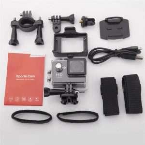 1080P Full Hd Sports Camera 30M Waterproof Loop Rec A9 Action Camera - Silver