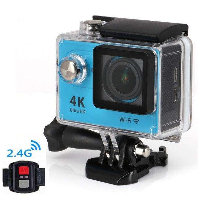 Action Sports Camera 4K Ultra Full Hd H9R 30M Waterproof Wifi Dv Remote Blue