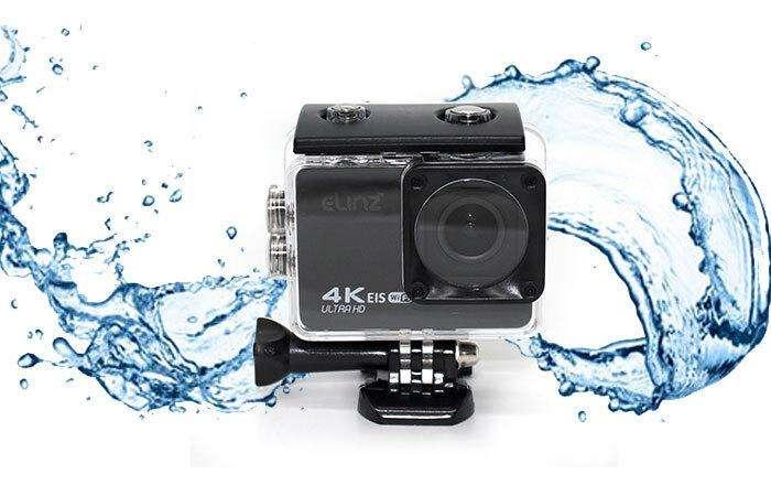 Elinz 4K HD Sports Action Camera 4K@60FPS 170° Waterproof Video WiFi Sony Sensor 1080P 32gb
