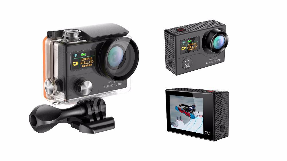 """4K Ultra Hd Wifi Sports Action Camera 2"""" Lcd Video Remote H3R Gold"""