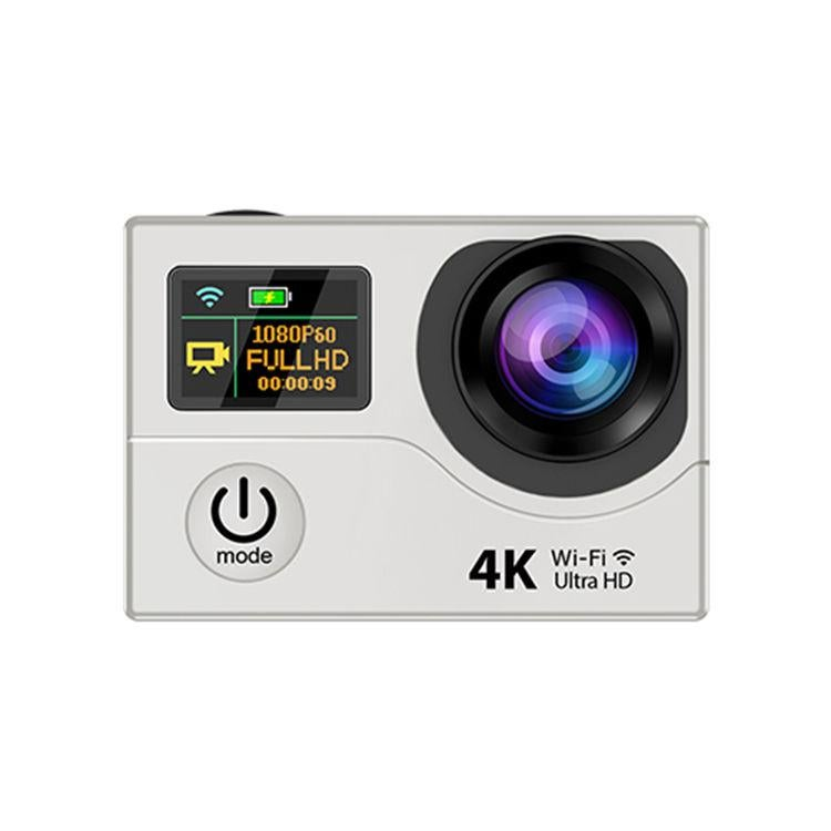 """H3R Hd Video Sport Camera Action 4K Wifi 2"""" Lcd Video With Remote Control White"""