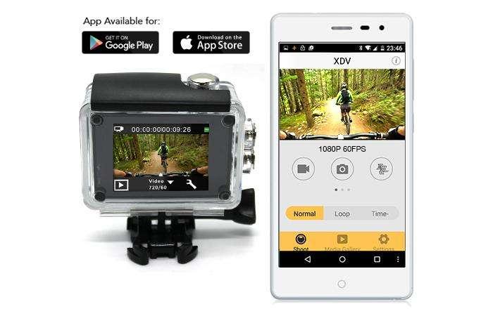 Elinz 4K HD Sports Action Camera 4K@60FPS 170° Waterproof Video WiFi Sony Sensor 1080P