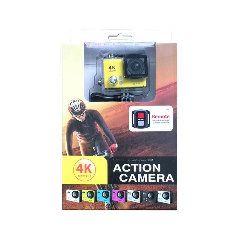H2R Waterproof Camera 4K Fhd 170º Lens Wifi 2.0'' 12Mp Sports Action Remote Blk