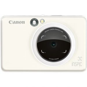Canon INSPIC S Instant Camera with Smartphone Connectivity - Pearl White - Kid's Camera Co.jpg