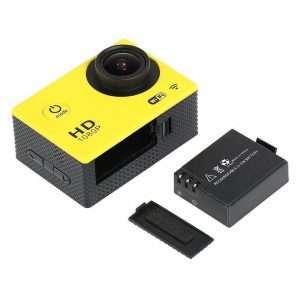 "Sports Dv Camera 30M Waterproof + Wifi 1.5"" Lcd Mount Yellow - Kid's Camera Co.jpg"