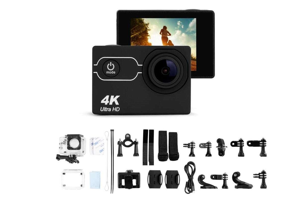 Kogan 4K Action Camera and 64GB Micro SD Card Combo