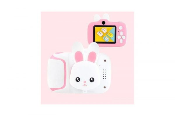 Kids Mini Digital Camera with Video - Pink Rabbit - Kids Camera Co. Australia