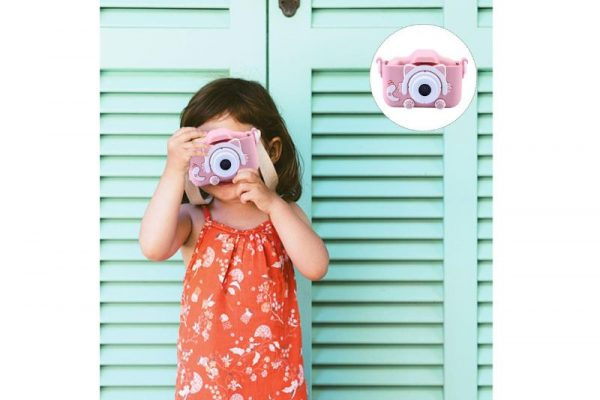 The OG Mini Kids Camera - Pink with Cat Cover